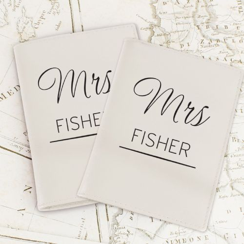 Personalised Couples Cream Passport Holders